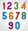 Stock Image : Colorful binary simple numbers.