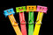 Stock Image : Colorful of binder clips on Ice cream sticks