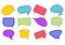 Stock Image : Colorful bubble boxs
