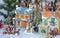 Stock Image : Colorful christmas village display