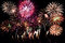 Stock Image : Colorful fireworks over night sky