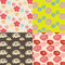 Stock Image : Colorful flower pattern set original