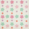 Stock Image : Colorful flowers pattern