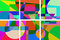 Stock Image : Colorful geometric Background