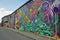 Stock Image : Colorful graffiti wall