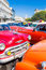 Stock Image : Colorful group of classic american cars in Havana