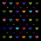 Stock Image : Colorful hearts pattern background