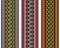 Stock Image : Colorful Henna Borders