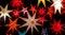 Stock Image : Colorful illuminated Christmas Stars