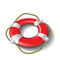 Stock Image : Red lifebuoy