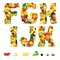 Stock Image : Colorful Letters from Fruit and Berries. Clip Art
