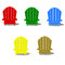 Stock Image : Colorful Muskoka Chairs