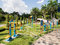 Colorful outdoor fitness equipment