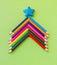 Stock Image : Colorful pencils as christmas tree,