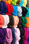 Stock Image : Colorful Scarves in a French Shop