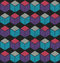 Stock Image : Colorful seamless cube pattern