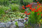 Stock Image : Colorful summer garden pond