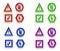 Stock Image : Colorful  Symbols on White