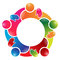 Stock Image : Colorful team work people circle