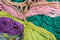 Stock Image : Colorful thread as abstract background