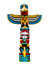 Stock Image : Colorful totem pole.