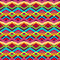Stock Image : Colorful tribal pattern