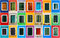 Stock Image : Colorful windows collage