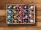 Stock Image : Colorful Xmas balls in box