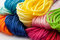 Stock Image : Colorful yarns