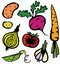 Stock Image : Colourful Healthy Vegetable Set