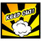 Stock Image : Comic book background Keep out! sign Card Pop Art office stamp