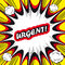 Stock Image : Comic book background Urgent! sign Card Pop Art office stamp