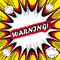Stock Image : Comic book background Warning! sign Card Pop Art