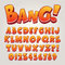 Stock Image : Comic Pop Art Alphabet and Numbers