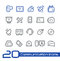 Stock Image : Communication Icons // Line Series