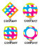 Stock Image : Company logo elements