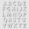 Stock Image : Complete set of white bloated alphabet letters