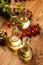 Stock Image : Composition of olive oils in bottles