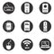 Stock Image : Computer hardware icon set