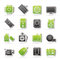 Stock Image : Computer part icons