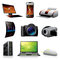 Stock Image : Computers and electronics icons