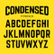 Stock Image : Condensed typeface