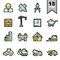 Stock Image : Construction icons set