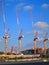 Stock Image : Construction Site Cranes