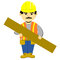 Stock Image : Construction Worker cartoon