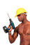 Stock Image : Construction Worker with Drill