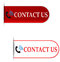 Stock Image : Contact us signs