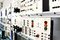 Stock Image : Control panels in an electronics lab