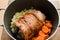 Stock Image : Cooking wild phesant