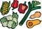 Stock Image : Cool Lettuce Selection Set